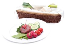 Free Vegetables And Raw Meat Royalty Free Stock Photography - 5002877