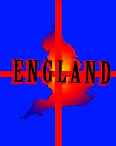 Free England Map 4 Royalty Free Stock Photography - 5003227