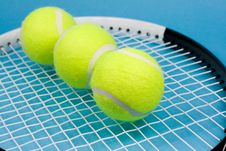 Free Tennis Balls With Racket Stock Photo - 5003490