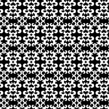 Free Seamless Black And White Ornament Pattern Stock Photography - 5003502