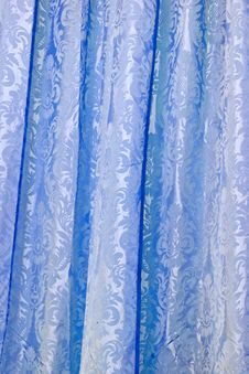 Free Blue Curtain Royalty Free Stock Image - 5003906