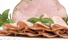 Ham With Herbs Royalty Free Stock Image
