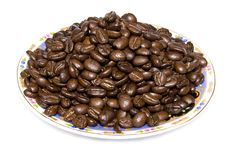 Coffe Beans Isolated On White Background Stock Image