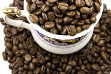 Free Half Cup Of Coffee Stock Image - 5005121