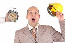 Free Businessman Looking At Clock Alarm Stock Photo - 5006020