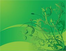 Free Green Flower Background Royalty Free Stock Photo - 5007725