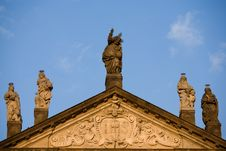 Free Church Roof With St. Statues Stock Photography - 5008132