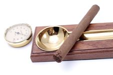 Free Cigar And Ashtray Royalty Free Stock Image - 5008296
