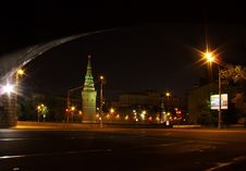 Free View Of Moscow Kremlin At Night Royalty Free Stock Image - 5008316