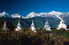 Free A Row Of Stupas Stock Photos - 5008683
