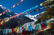 Free Prayer Flags And Kawagebo Stock Images - 5008694