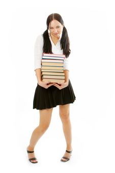 Student Woman With Books Stock Photos