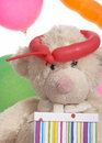 Free Teddy Bear And The Balloons Royalty Free Stock Images - 5019959