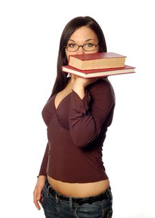 Free Woman With Book Stock Photo - 5010210