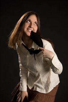 Free The Brunette Girl Stock Image - 5010991