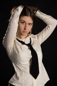 Free The Brunette Girl Stock Image - 5011001