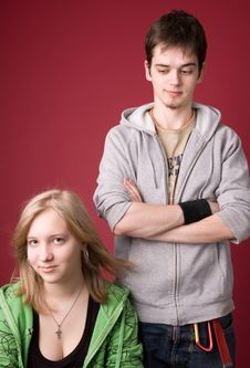 Free Young Girl And The Guy. Stock Photography - 5011142