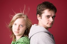 Free Young Girl And The Guy. Royalty Free Stock Photography - 5011147