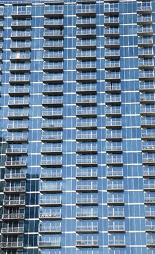 Blue Balconies Royalty Free Stock Image