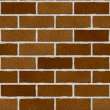 Seamless Red Brown Brick Wall Royalty Free Stock Photography