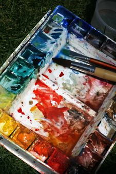 Free Paintbox Stock Images - 5013124