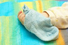 Free The Hand Of The Child And Sock Royalty Free Stock Photos - 5013158