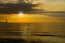 Black Sea-sunset Royalty Free Stock Photography