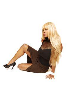 Free Sitting Blond Lady 87. Stock Photography - 5013572