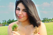 Free Holding Grass Royalty Free Stock Photo - 5014985