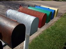 Rural Mailboxes Royalty Free Stock Photos