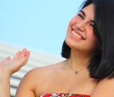 Free Cute Girl Smiling Stock Image - 5015401