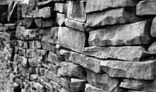 Free Drystone Wall Royalty Free Stock Photos - 5015568