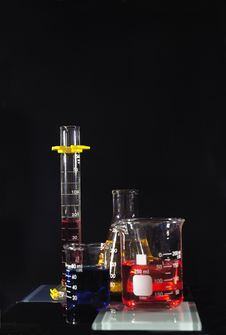 Free Beakers With Liquids Stock Image - 5015751