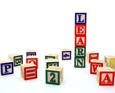Free Alphabet Blocks Royalty Free Stock Image - 5015816