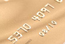 Free Gold Credit Card Stock Photos - 5016143