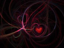 Free Abstract Red Heart  In The Hole Royalty Free Stock Image - 5016216