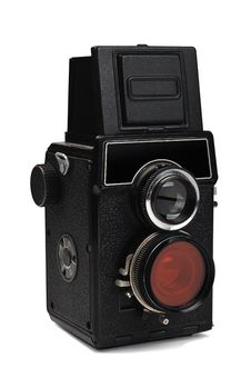 Old Twin Lens Camera Stock Photo