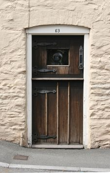 Free Old Cottage Door Royalty Free Stock Images - 5017179