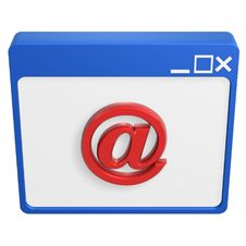 Email Symbol Browser Royalty Free Stock Photography