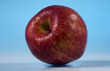 Red Fresh Striped Apple Stock Images