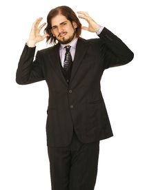 Free Stress Man In Business Suit Royalty Free Stock Photography - 5018467
