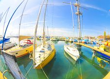 Free Harbour Panorama Royalty Free Stock Photography - 5018927