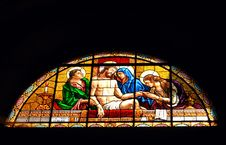 Free Stained Glass,christ Royalty Free Stock Photo - 5019035