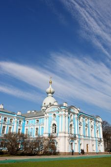 View Of The Smolny Cathedral Royalty Free Stock Photos