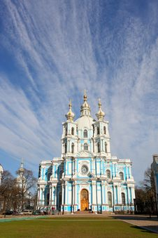 View Of The Smolny Cathedral Royalty Free Stock Image