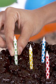 Baked Chocolate Cake Royalty Free Stock Images