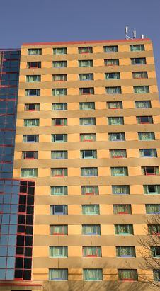 Free Hotel With Colorful Windows Stock Image - 5019511