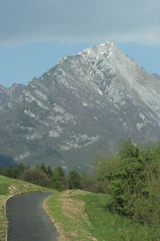 Free Road To Alps Stock Photos - 5019983