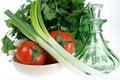 Free Fresh Tomato, Onions, Parsley Royalty Free Stock Photos - 5026008