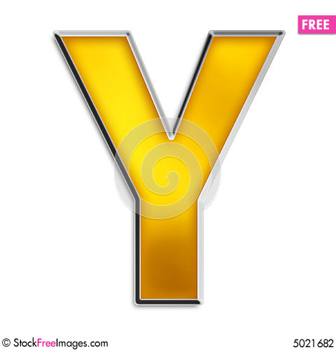 y letter in gold - photo #37